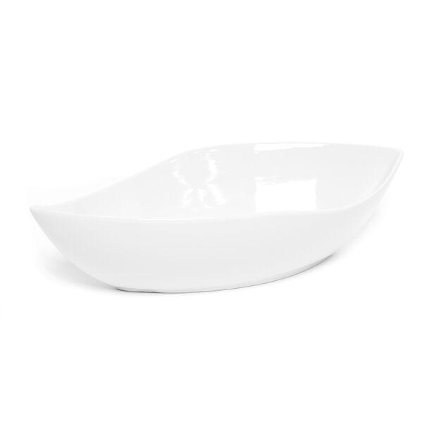 La Mesa Porcealin Oval Salad Bowl Super White 26.7 Cm image number 1