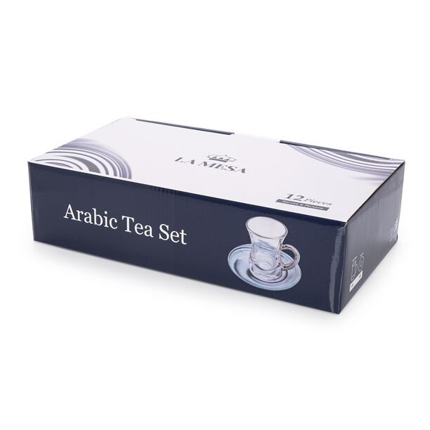 La Mesa Arabic Tea 12 Pieces Set Grey Marble And Silver image number 2