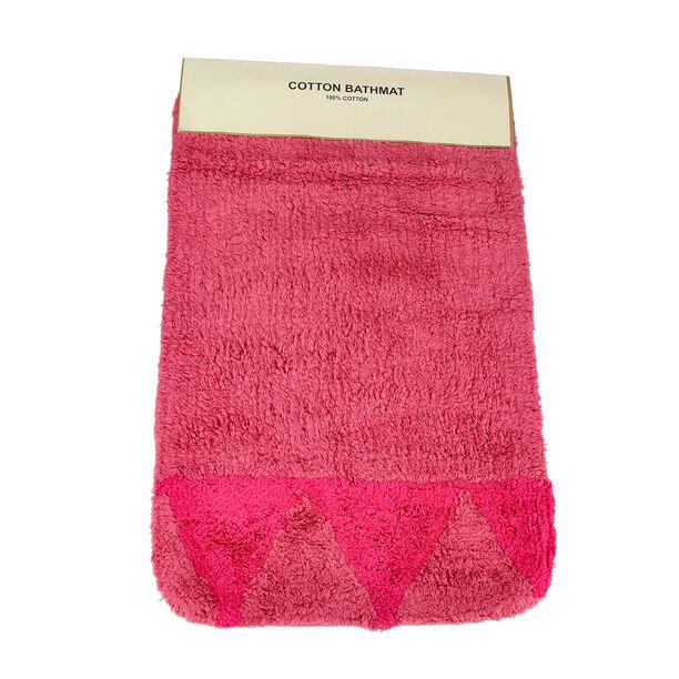 Bath Mat 50X80Cm Cotton Pink  image number 1