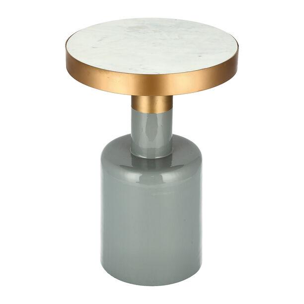 Marble Round Side Table Black Base image number 2