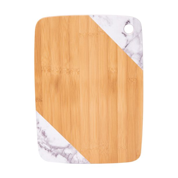 Bamboo Cutting Board Marble Surface Rectangle  image number 1