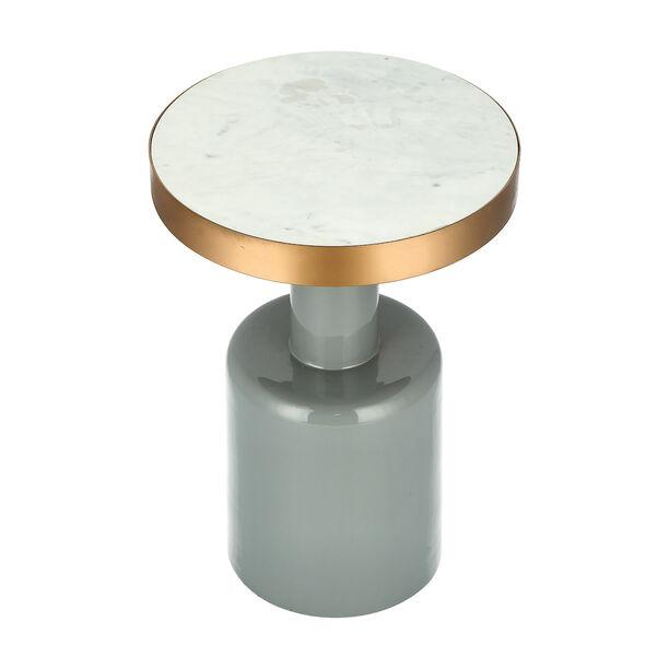 Marble Round Side Table Black Base image number 1