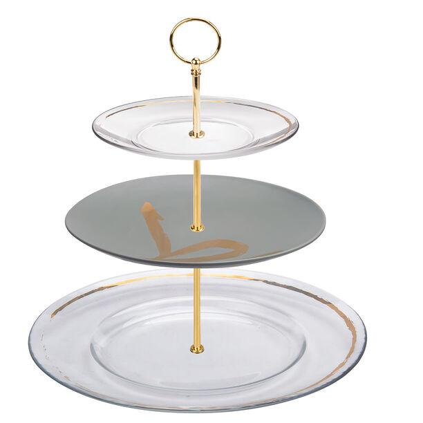 طبق تقديم الحلويات 3 طبقات image number 0