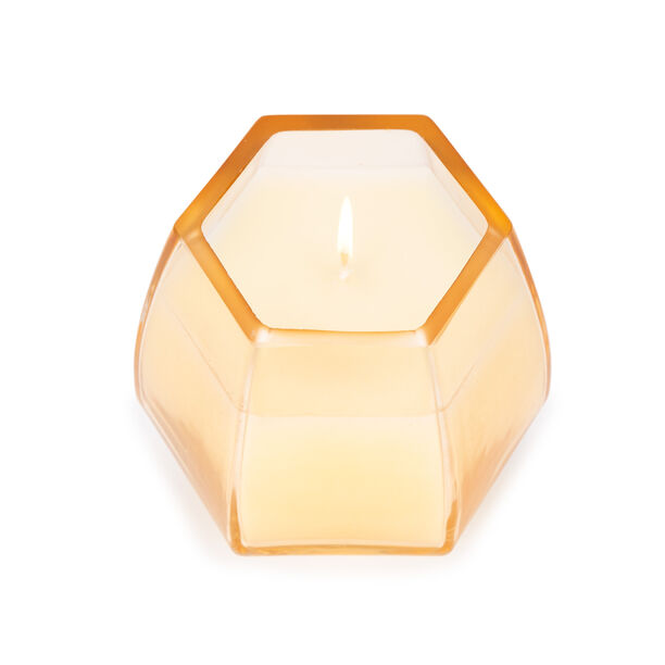 Glass Candle Honey And Jasmine Pink image number 1