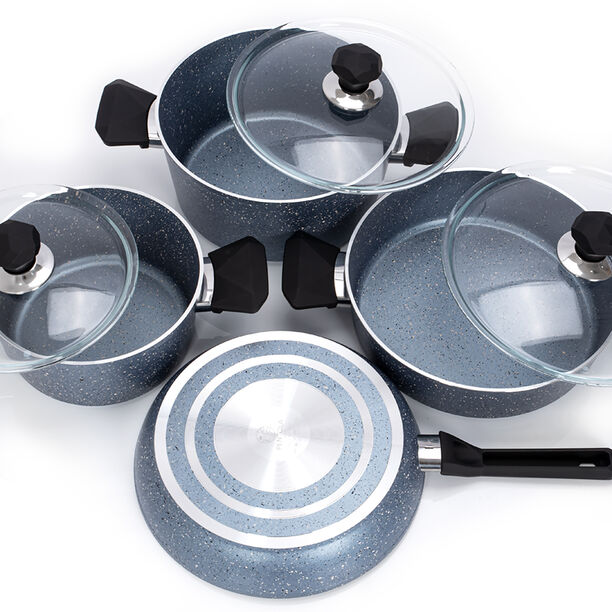 Pentola 7 Pieces Granite Cookware Set Blue image number 2