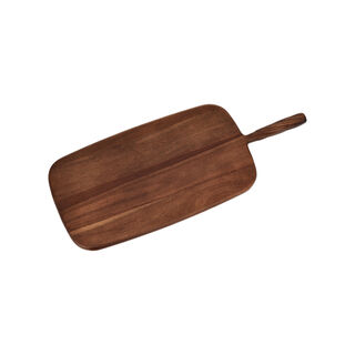 Acacia Wood Cutting Board With Handle Walnut