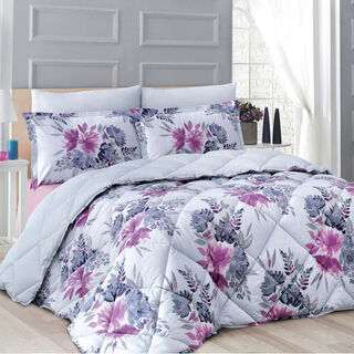 Cottage Comforter Set 4 Pieces King Size Barbes, Pillow Case & Fitted Sheet