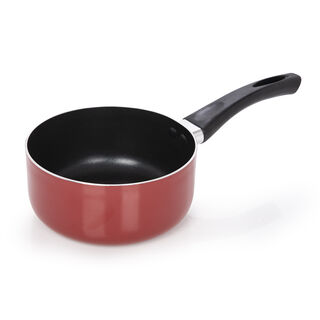 Alberto Non Stick Round Sauce Pan With Bakelite Handle Red