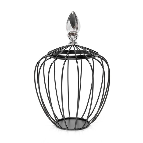 Wire Aluminum And Iron Lantern Black image number 0