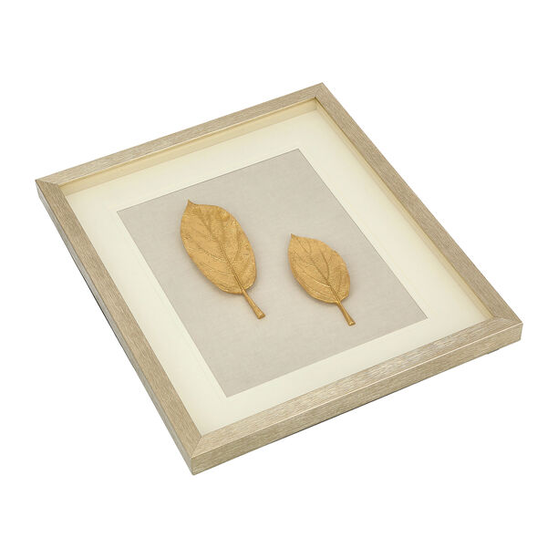 Shadow Box With Frame Golden Leaf Silver image number 2