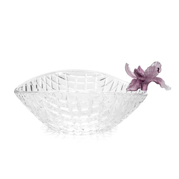 La Mesa Glass Bowl With Violet Crystal Flower 26 Cm image number 2