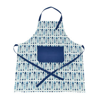 Alberto Kitchen Apron Fish Design