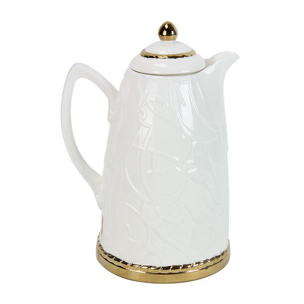 Dallety Porclain Vacuum Flask Kan Ya Makan White 1L image number 0