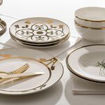 La Mesa Porcelain Dinner Set 16 Pieces Gold image number 4