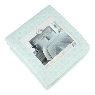 غطاء سرير سوبر كنج لون سماوي من كوتاج
