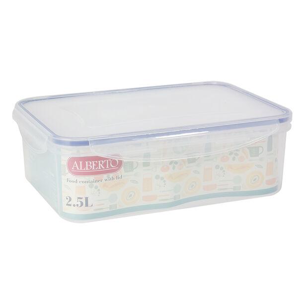 حافظة طعام بلاستيك مستطيل سعة 2.5 لتر من البرتو image number 1