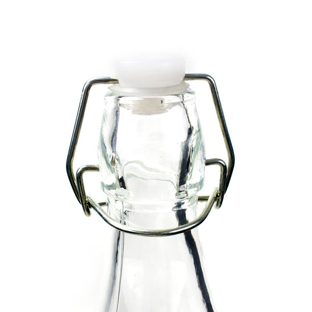 Glass Bottle With Metal Clip Lid image number 1