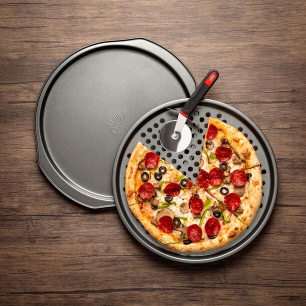 طقم صينية خبز البيتزا قطعتين مع قاطع image number 0