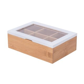 Bamboo Tea Box 6 Sections