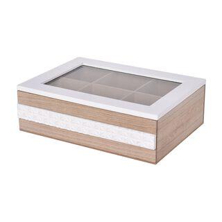 صندوق شاي خشبي 6 أقسام