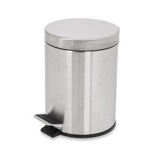 Eko Luna Metal Pedal Bin Silver 5 L