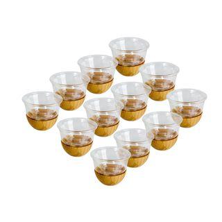 12Pcs Cawa Cups With Bamboo Base