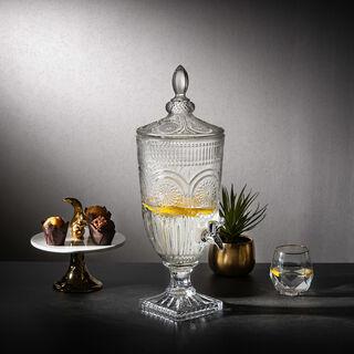 Glass Beverage Dispenser With Base Asst Designs