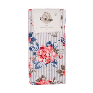 Cottage  2 Pieces Kitchen Towel Set L- 60 * W- 40Cm -  Spring Design - Powder Color