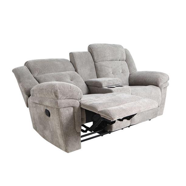 كرسي إسترخاء بمقعدين لون رمادي image number 3