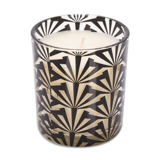Glass Jar Candle 5% Fragrance Black And Gold