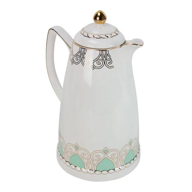 Dallety Porcelain Vacuum Flask 900 Ml Fairoz Green Color image number 1