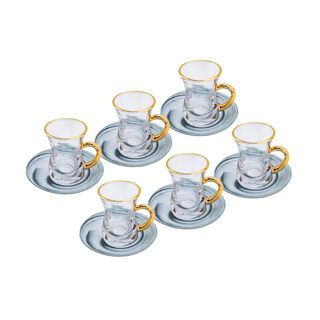 La Mesa Arabic Tea Set 12 Pieces Marble & Gold