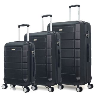 "Travel Vision Signature Set Of 3 20/26/30"" Black"