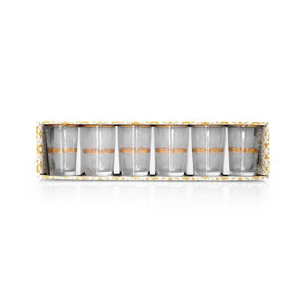 Moroccan Tea Cups Set 6 Pieces Gold image number 1