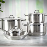 Alberto Stainless Steel Cookware Set 9 Pieces image number 2