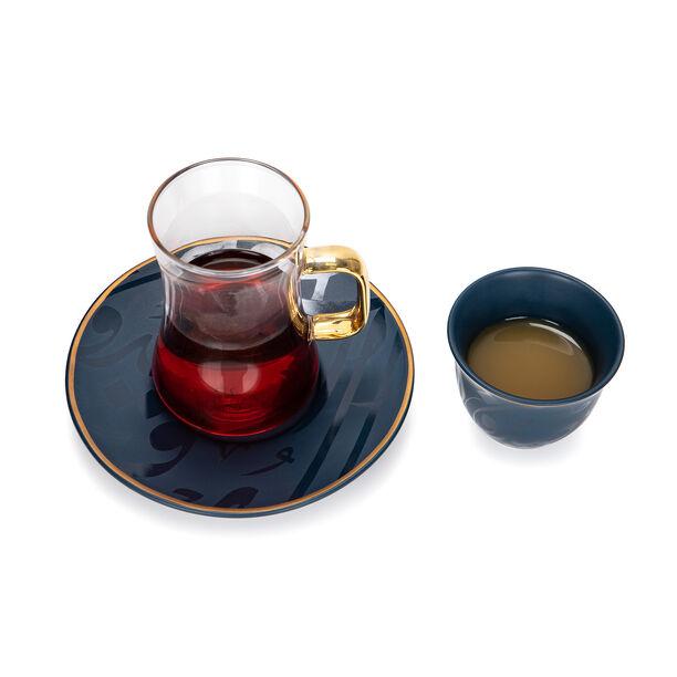 طقم كاسات قهوة مع شاي 18 قطعة image number 3