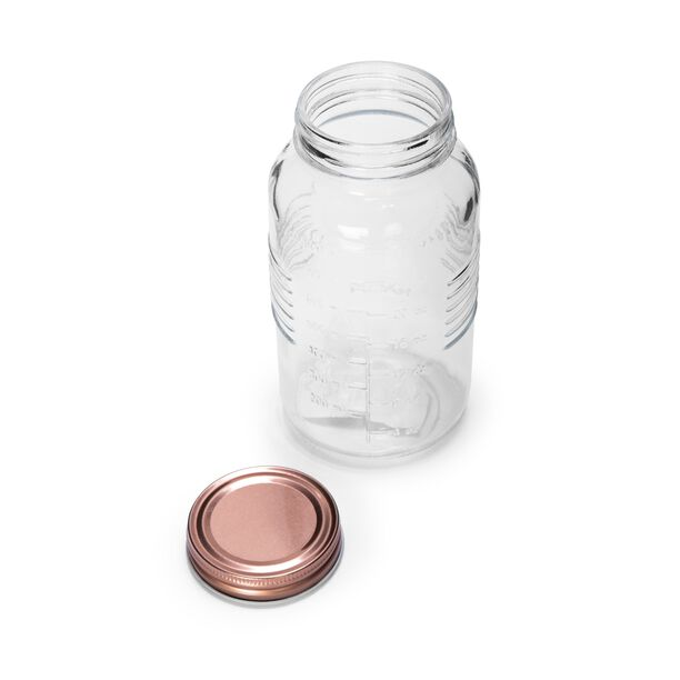 Alberto Glass Mason Jar With Copper Lid image number 1