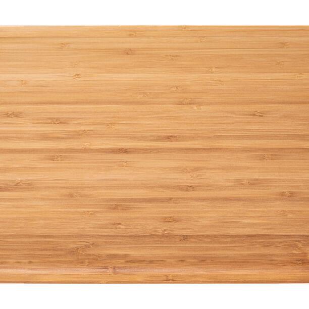 صينية تقديم من الخيزران بمقابض خشبية image number 1