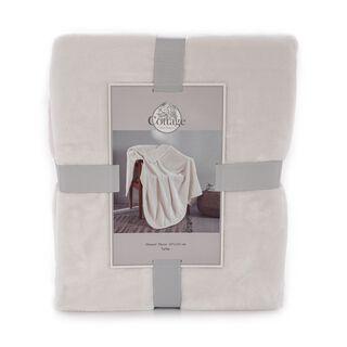 Cottage Flannel Throw 127X152 Cm White