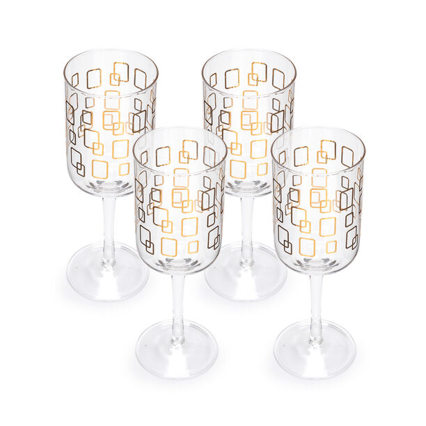 S/4 Stem Glass With Gold Pane Decal image number 1