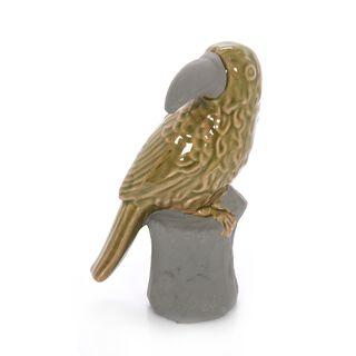 Ceramic Replica Parrot Olive Green