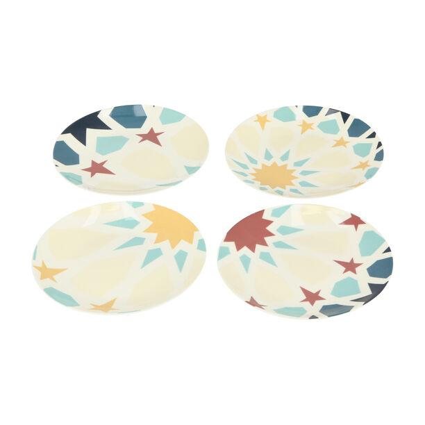 Arabesque 4 Pcs Set Dessert Plates New Bone image number 6