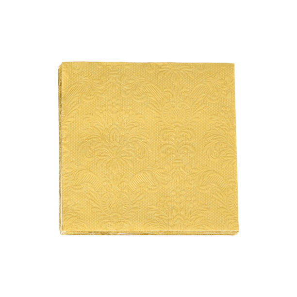 Elegance Serving Napkins Cocktail Paper Square Gold  image number 1