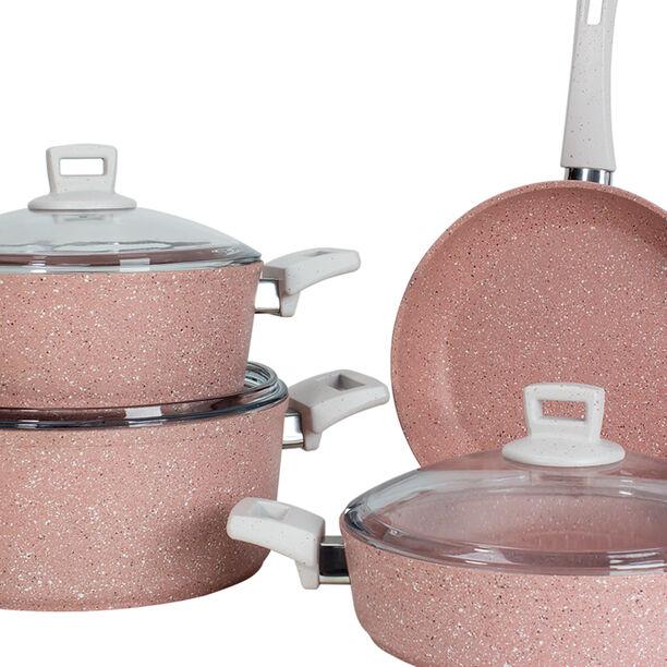 Alberto Granit 7Pcs Cookware Pinky image number 2