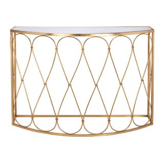 Homez Metal Console Table Gold