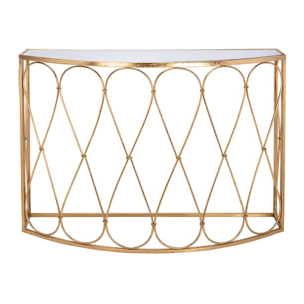 Homez Metal Console Table Gold  image number 0