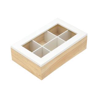 صندوق شاي 6 أقسام
