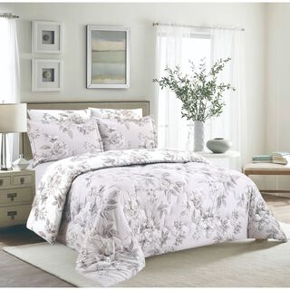 Cottage 3 Pieces Comforter Set Twin Size Cicekci Stone