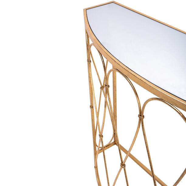 Homez Metal Console Table Gold  image number 2