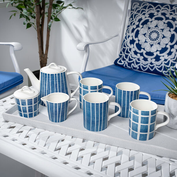 English Tea Set 7Pc Navy Carnival image number 4